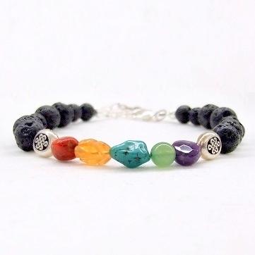 Lava Rainbow Gemstone Bracelet Kit